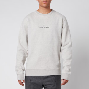 Maison Margiela Men's Mirrored Logo Sweatshirt - Grey Melange