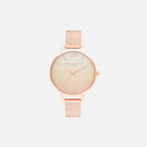 Olivia Burton Women's Under The Sea Sunset Ombre Glitter Demi Dial Watch - Rose Gold