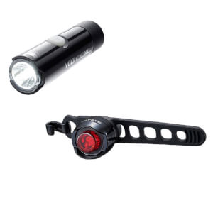 Cateye Volt 100XC/Orb Rechargeable Light Set