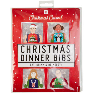 Christmas Dinner Bibs - Pack of 8