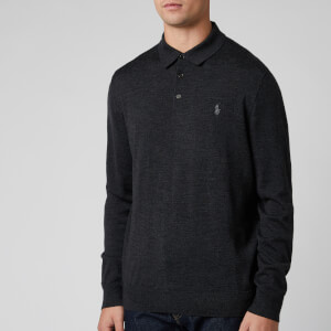 Polo Ralph Lauren Men's Merino Wool Placket Jumper - Dark Granite Heather