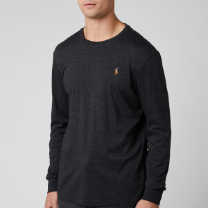 Polo Ralph Lauren Men's Custom Slim Fit Long Sleeve T-Shirt - Black Marl Heather