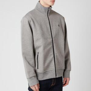 Polo Ralph Lauren Men's Full Zip Mock Neck Sweatshirt - Battalion Grey Heather/Black