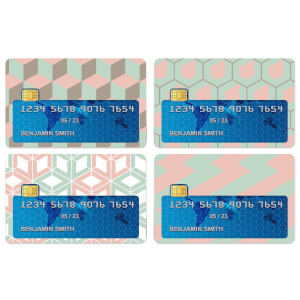 Pastel Patterns Credit Card Covers