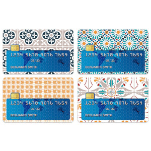 Colourful Tiles Credit Card Covers