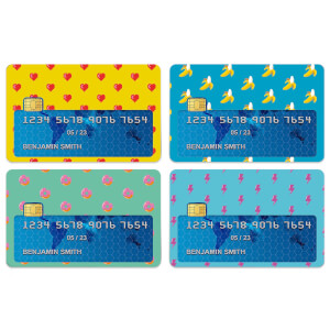 Pixelated Patterns Credit Card Covers