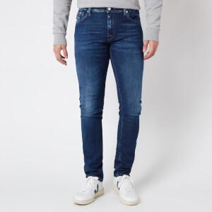 Tramarossa Men's Leonardo Slim 5 Pocket Jeans - Denim Blue Stretch