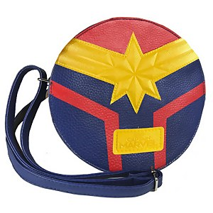 Marvel Captain Marvel Faux Leather Shoulder Bag - Blue