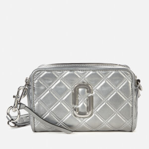 Marc Jacobs Women's The Softshot 17 Quilted Metallic Bag - Silver