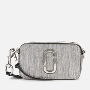 Marc Jacobs Women's Snapshot Glitter Bag - Silver