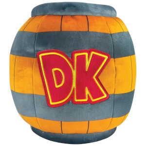 Mario Kart Mega Donkey Kong Barrel Plush Toy