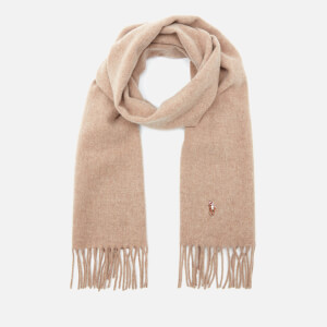 Polo Ralph Lauren Men's Fringed Virgin Wool Scarf - Brown Heather