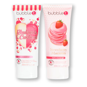 Bubble T Cosmetics Soapscription Rhubarb & Custard and Strawberry Macaron