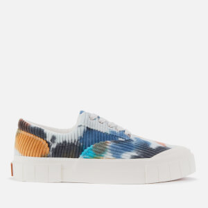 Good News Men's Opal Tie Dye Sustainable Trainers - Navy/Brown