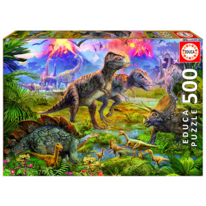 Dinosaur Gathering Jigsaw Puzzle (500 Pieces)