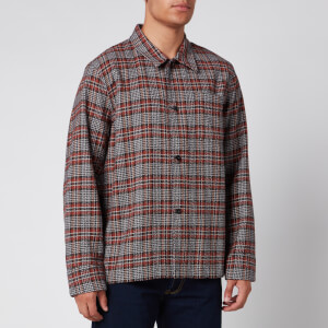 Our Legacy Men's Box Rustic Plaid Shirt - Orange/Brown