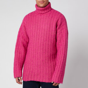 Our Legacy Men's Large Rib Turtleneck Jumper - Bubblegum Acrylic