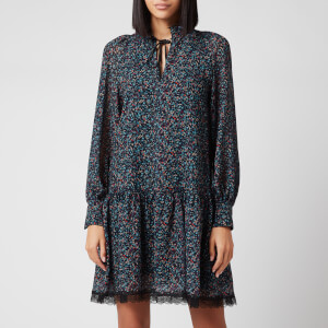 See by Chloe Women's Multi Floral Print Dress - Multi Blue