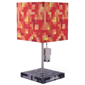 Minecraft Ghast And Lava Block 3D Puller Desk Lamp 14 Inch