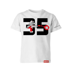Fire Mario White T-Shirt (Kids) - Super Mario Bros. 35th Anniversary