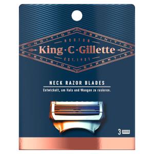 King C. Gillette Hals- und Nackenrasierer Klingen