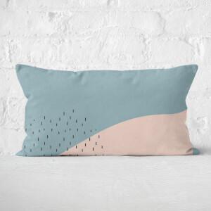 Pretty Pink Dash Rectangular Cushion