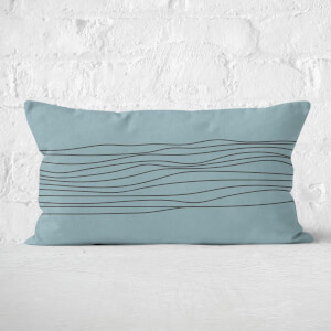 Stripes & Circle Rectangular Cushion