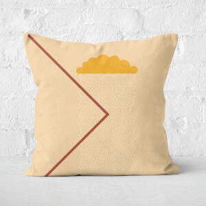 Abstract Rain Cloud Square Cushion
