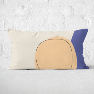 Circular Abstract Rectangular Cushion