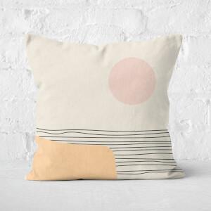 Sea Sunset Square Cushion