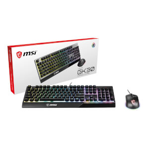 MSI VIGOR GK30 COMBO RGB MEMchanical Gaming Keyboard & Clutch GM11 Gaming Mouse