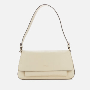 Radley Women's Vale Close Croc Medium Flapover Shoulder Bag - Oyster
