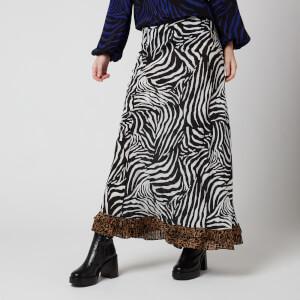 RIXO Women's Penny Skirt - Zebra Stripe/Leopard Spot