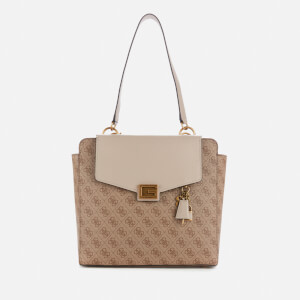 Guess Women's Valy Status Carryall - Latte