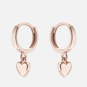 Ted Baker Women's Harrie: Tiny Heart Huggie Earrings - Rose Gold