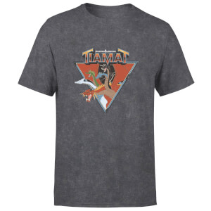 Dungeons & Dragons D&D Cartoon Tiamat Unisex T-Shirt - Black Acid Wash
