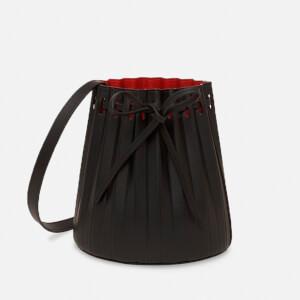 Mansur Gavriel Women's Mini Pleated Bucket Bag - Black/Flamma