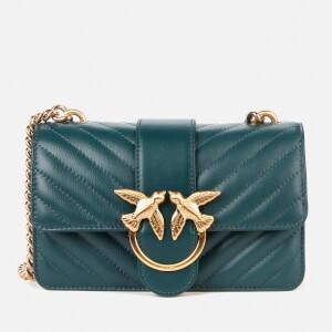 Pinko Women's Love Mini Icon V Quilt Bag - Dark Green
