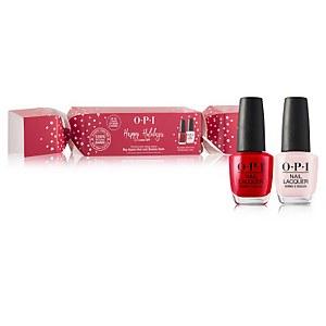 OPI Double Bon Bon Nail Varnish Christmas Set 2 x 15ml (Worth $39.90)