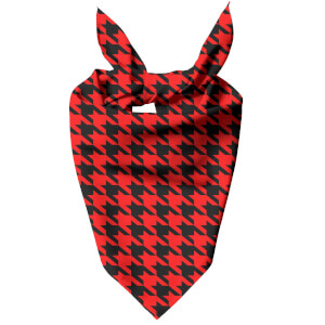 Red Dogtooth Dog Bandana