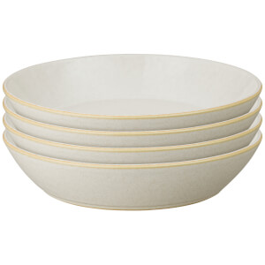 Denby Impression Cream Pasta Bowls (Set of 4)