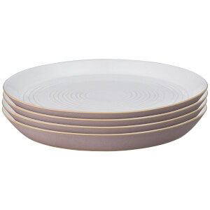 Denby Impression Pink Spiral Dinner Plates (Set of 4)