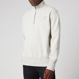 Superdry Men's Sportstyle Half Zip Track Top - Pale Grey Marl