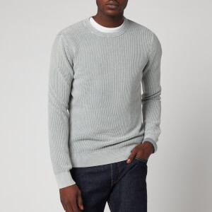 Superdry Men's Academy Dyed Texture Crewneck Jumper - Washed Skylark