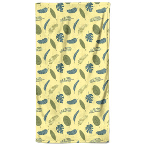 Summer Leaves Beach Towel