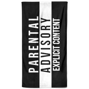 Parental Advisory Explicit Content Beach Towel