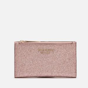 Kate Spade New York Women's Spencer Glitter Small Slim Bifold Wallet - Rose Gold