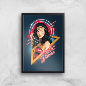 Póster Artistico Wonder Woman Welcome To The 80s