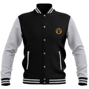 Borderlands 3 Fustercluck Psycho Krieg Women's Varsity Jacket - Black / Grey