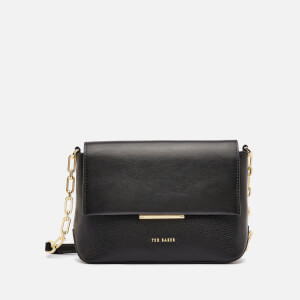 Ted Baker Women's Leannaa Metal Plaque Soft Grain Cross Body Bag - Black